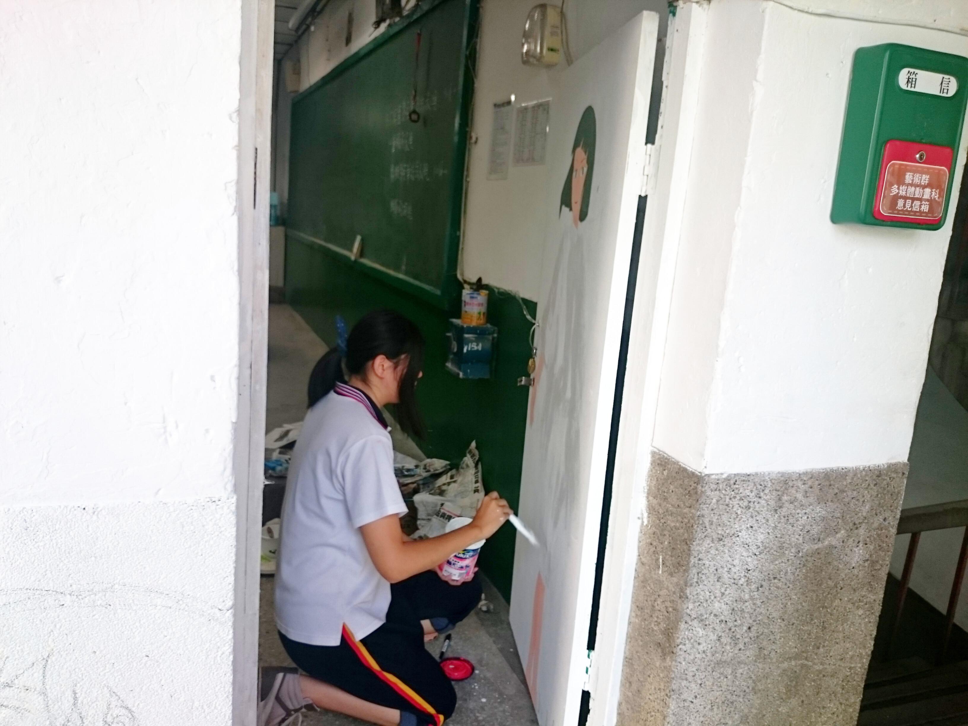 手绘教室布置